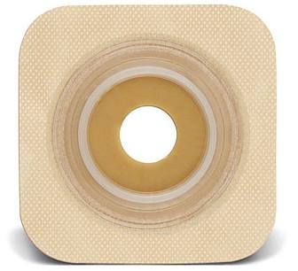 SUR-FIT Natura® Stomahesive® Flexible Wafer - Tan 5 in. x 5 in. (Pre-Cut)
