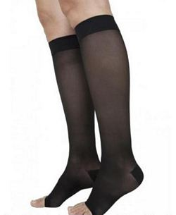780 Eversheer Series - Womens Calf-High Open Toe Stockings - 20-30mmHg
