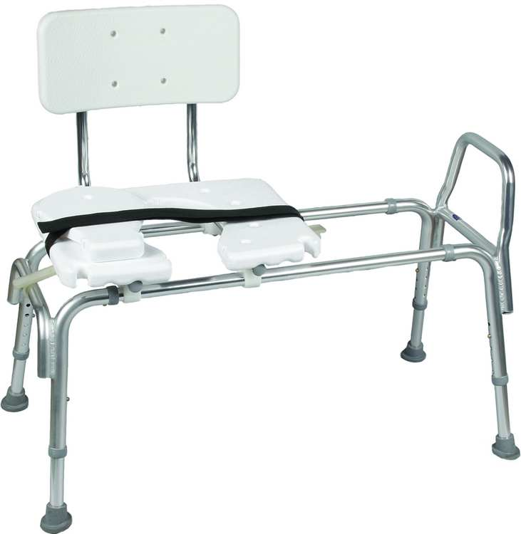 Heavy Duty Sliding Transfer Bench W Cut Out Seat Bathtub And Shower Transfer Benches Home