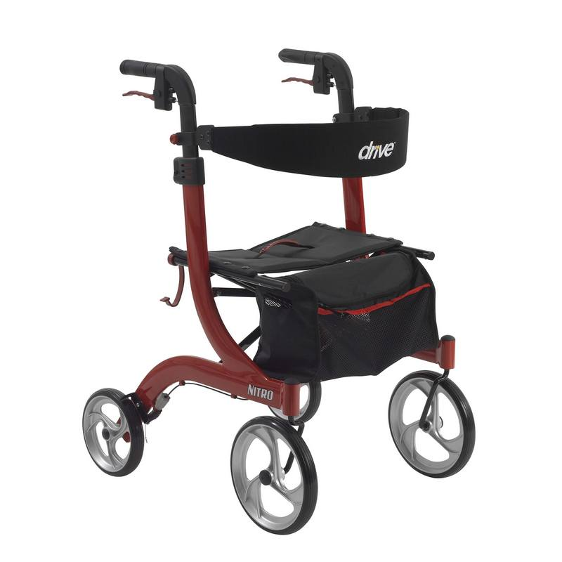 Nitro euro style red rollator walker walkers and for Mobility walker